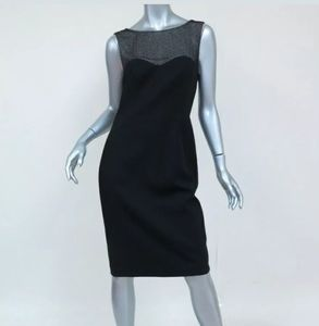 L'Agence Intermix Dress Fitted w/Beaded Yoke